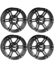 KIT CERCHI QUAD ATV ITP SS212 12x7 4/110 2+5  BLACK